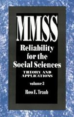 Reliability for the Social Sciences 0 9780803943254 0803943253