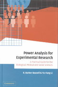 Power Analysis for Experimental Research 1st edition 9780521024563 0521024560