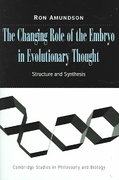 The Changing Role of the Embryo in Evolutionary Thought 1st edition 9780521703970 0521703972