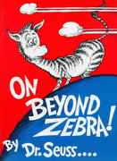 On Beyond Zebra! 1st Edition 9780394800844 0394800842