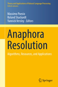 Anaphora Resolution 1st Edition 9783662479094 3662479095