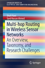 Multi-hop Routing in Wireless Sensor Networks 1st Edition 9789812877307 9812877304