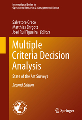 Multiple Criteria Decision Analysis 2nd Edition 9781493930944 149393094X