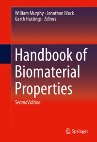 Handbook of Biomaterial Properties 2nd Edition 9781493933051 1493933051