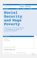 Social Security and Wage Poverty 1st Edition 9781137293961 1137293969