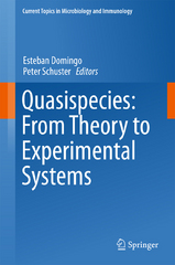 Quasispecies: From Theory to Experimental Systems 1st Edition 9783319238982 3319238981