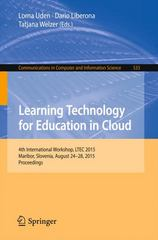 Learning Technology for Education in Cloud 1st Edition 9783319226293 3319226290