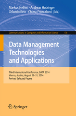 Data Management Technologies and Applications 1st Edition 9783319259369 3319259369