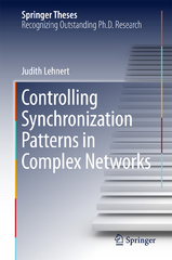 Controlling Synchronization Patterns in Complex Networks 1st Edition 9783319251158 3319251155