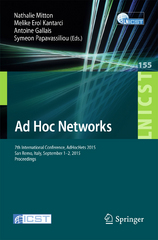 Ad Hoc Networks 1st Edition 9783319250670 3319250671