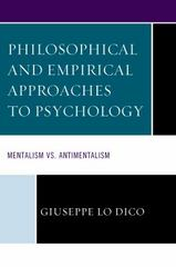 Philosophical and Empirical Approaches to Psychology 1st Edition 9781498516617 1498516610