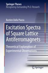 Excitation Spectra of Square Lattice Antiferromagnets 1st Edition 9783319264196 3319264192