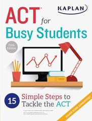 ACT for Busy Students 5th Edition 9781506209067 1506209068