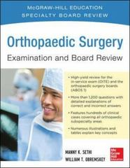 Orthopaedic Surgery Examination and Board Review 1st Edition 9780071832748 0071832742