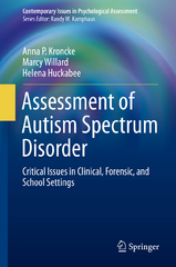 Assessment of Autism Spectrum Disorder 1st Edition 9783319255040 3319255045