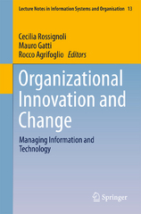 Organizational Innovation and Change 1st Edition 9783319229218 3319229214