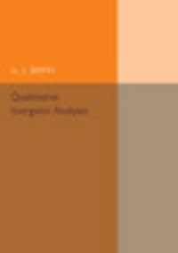 Qualitative Inorganic Analysis 1st Edition 9781316509838 1316509834