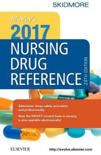 Mosby's 2017 Nursing Drug Reference 30th Edition 9780323448260 0323448267