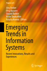 Emerging Trends in Information Systems 1st Edition 9783319239293 3319239295