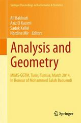 Analysis and Geometry 1st Edition 9783319174433 3319174436