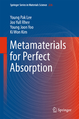 Metamaterials for Perfect Absorption 1st Edition 9789811001055 9811001057