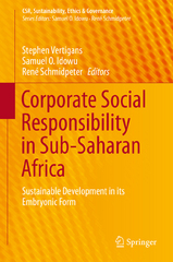 Corporate Social Responsibility in Sub-Saharan Africa 1st Edition 9783319266688 3319266683
