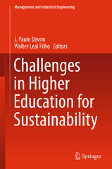 Challenges in Higher Education for Sustainability 1st Edition 9783319237053 3319237055