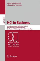 HCI in Business 1st Edition 9783319208954 3319208950