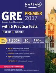 GRE Premier 2017 with 6 Practice Tests 1st Edition 9781506203225 1506203221