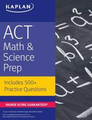 ACT Math & Science Prep 3rd Edition 9781506209043 1506209041