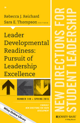 Leader Developmental Readiness: Pursuit of Leadership Excellence 1st Edition 9781119245858 1119245850