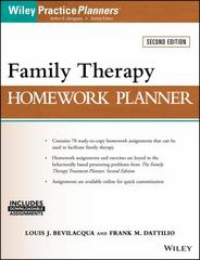 Family Therapy Homework Planner 2nd Edition 9781119246480 1119246482