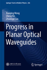 Progress in Planar Optical Waveguides 1st Edition 9783662489840 3662489848