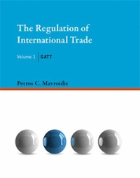 The Regulation of International Trade 1st Edition 9780262029841 0262029847