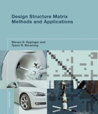 Design Structure Matrix Methods and Applications 1st Edition 9780262528887 0262528886
