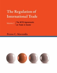 The Regulation of International Trade 1st Edition 9780262029995 0262029995
