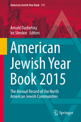 American Jewish Year Book 2015 1st Edition 9783319245058 3319245058
