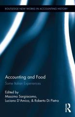 Accounting and Food 1st Edition 9781138652453 1138652458