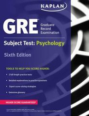 GRE Subject Test: Psychology 6th Edition 9781506209357 1506209351