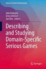 Describing and Studying Domain-Specific Serious Games 1st Edition 9783319202761 3319202766