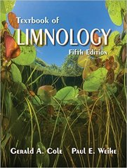 Textbook of Limnology 5th Edition 9781478632184 1478632186
