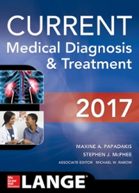 CURRENT Medical Diagnosis and Treatment 2017 56th Edition 9781259585111 1259585115