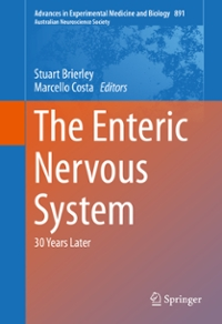 The Enteric Nervous System 1st Edition 9783319275925 3319275925