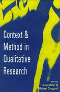 Context and Method in Qualitative Research 0 9780803976320 0803976321