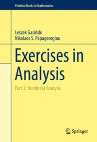 Exercises in Analysis 1st Edition 9783319278155 3319278150