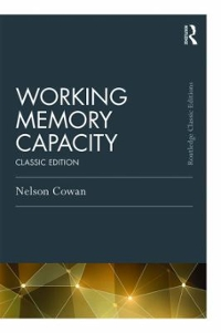 Working Memory Capacity 1st Edition 9781317232384 1317232380