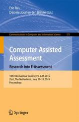 Computer Assisted Assessment -- Research into E-Assessment 1st Edition 9783319277035 3319277030