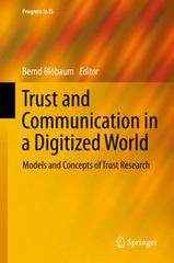 Trust and Communication in a Digitized World 1st Edition 9783319280578 3319280570
