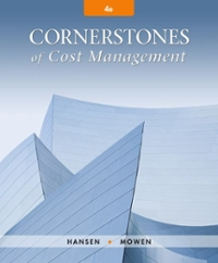 Cornerstones of cost management 4th edition rent 9781305970663 cornerstones of cost manage 4th fandeluxe Choice Image