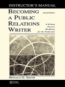 Becoming a Public Relations Writer Instructor's Manual 2nd edition 9780805848168 0805848169